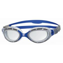ZOGGS Predator Flex Regular Fit - Grey Blue Clear - Lunettes Triathlon et natation