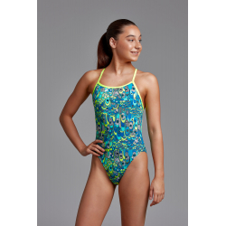 Funkita Fille (8-14 ans) Lord of the Wings - Single Straps - Maillot de bain Natation Fille