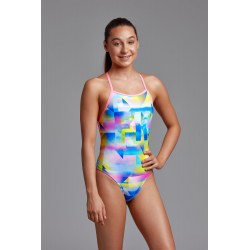 Funkita Fille (8-14ans) Couting Clouds - Strapped In - Maillot de bain Natation Fille