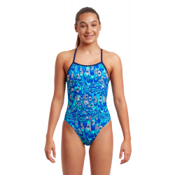 Funkita Fille (8-14ans) Wings Up - Strapped In - Maillot de bain Natation Fille