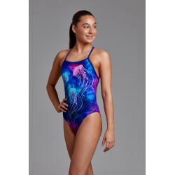 Funkita Fille (8-14ans) Jelly Belly - Strapped In - Maillot de bain Natation Fille