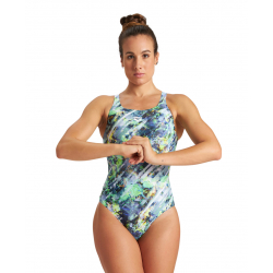 Arena FILTERS - Swim Pro Back - Black Multi - Maillot Natation Femme