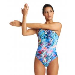 Arena FILTERS - Swim Pro Back - Navy Multi - Maillot Natation Femme
