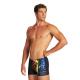 ARENA M VIBRATION Short - Black Multi - Maillot Boxer Natation Homme
