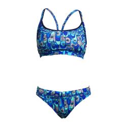 Funkita Wings Up - Sport Top & brief - Maillot de bain Natation Femme 2 pieces